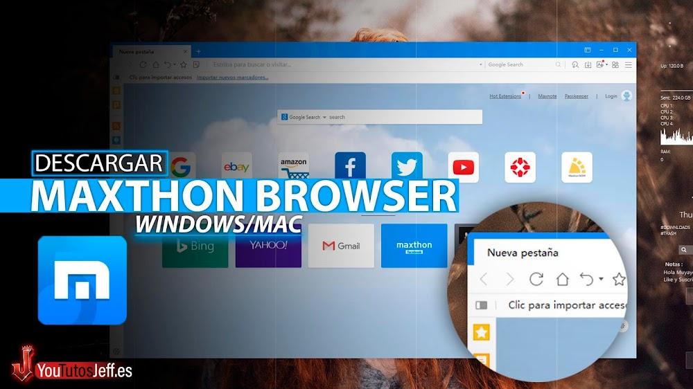 Como Descargar Maxthon Ultima Versión Español