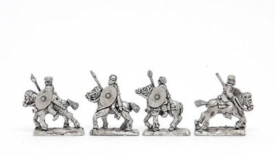 ARL12 Unarmoured cavalry with spear and shield