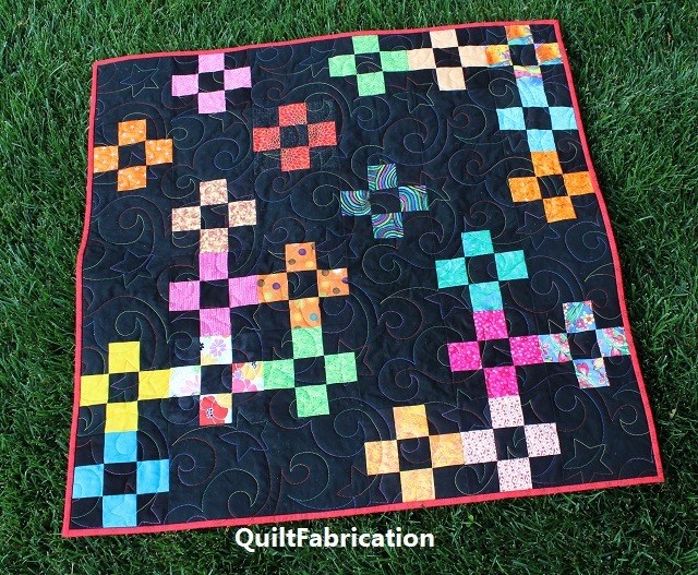 NINE PATCH QUILT-BABY QUILT
