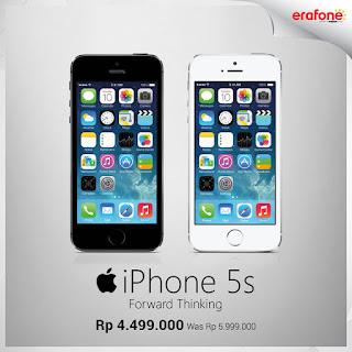 iPhone 5s Harga Spesial Rp 4.499.000 di Erafone