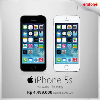 iPhone 5s Turun Harga Menjadi Rp 4.499.000