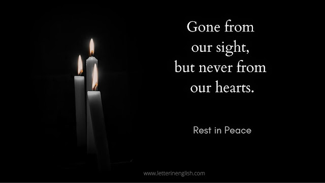 short condolence message with image
