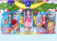 Logo Winx Christmas Contest con Deakids: vinci gratis 6 kit di bambole Winx Club