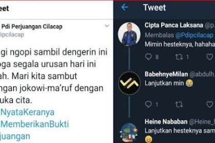 Akun PDIP Twit Pakai Tagar #JokowiNyataKeranya, Netizen: Hesteknya keren, lanjut sampai TT dunia 😂