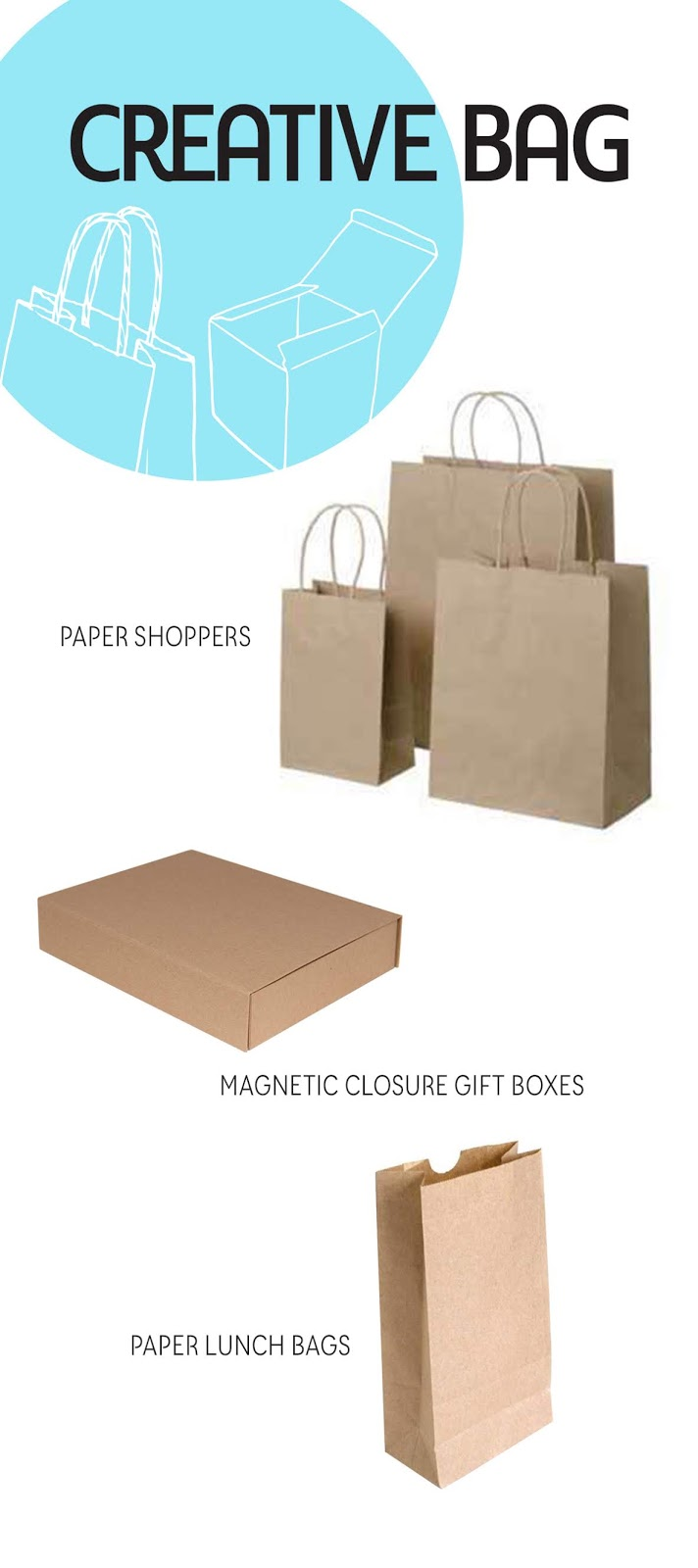 kraft bags and boxes from Creative Bag | creativebag.com