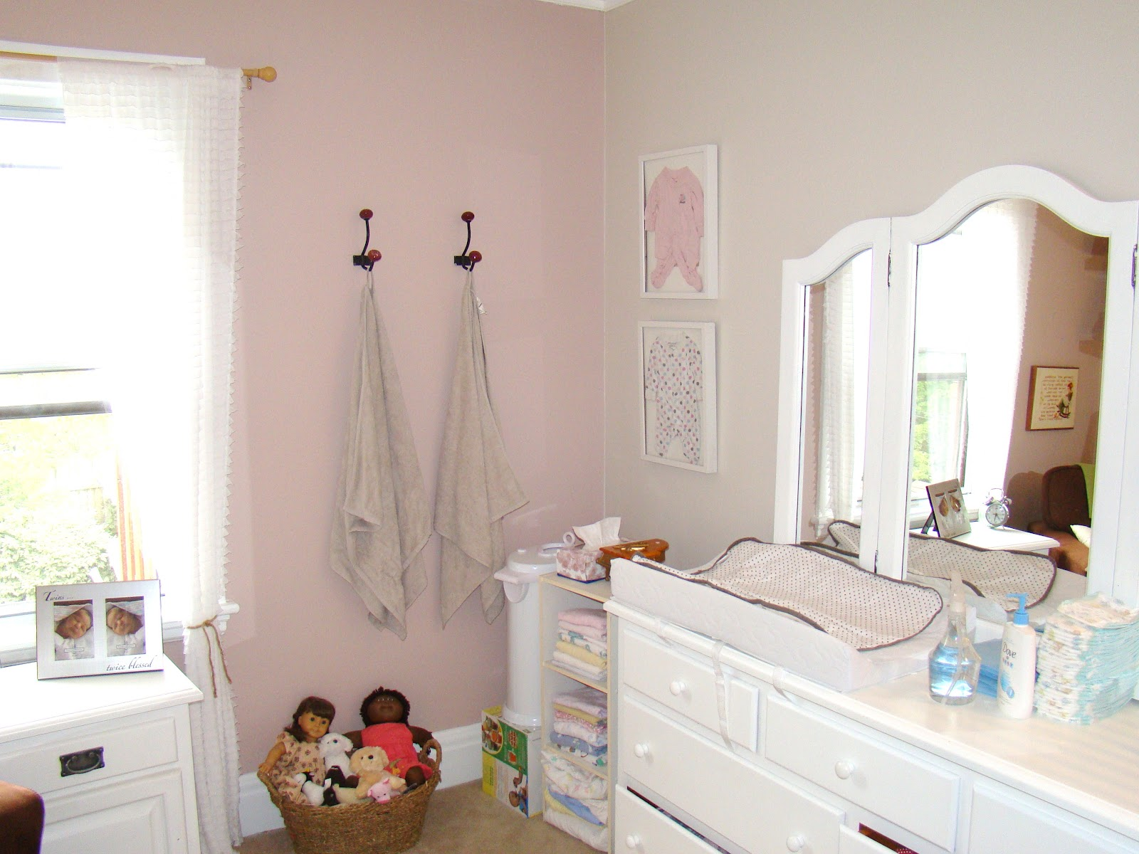 I Didn T Want A Room That Was Pink And Tacky So We Went With Soft Muted Tones