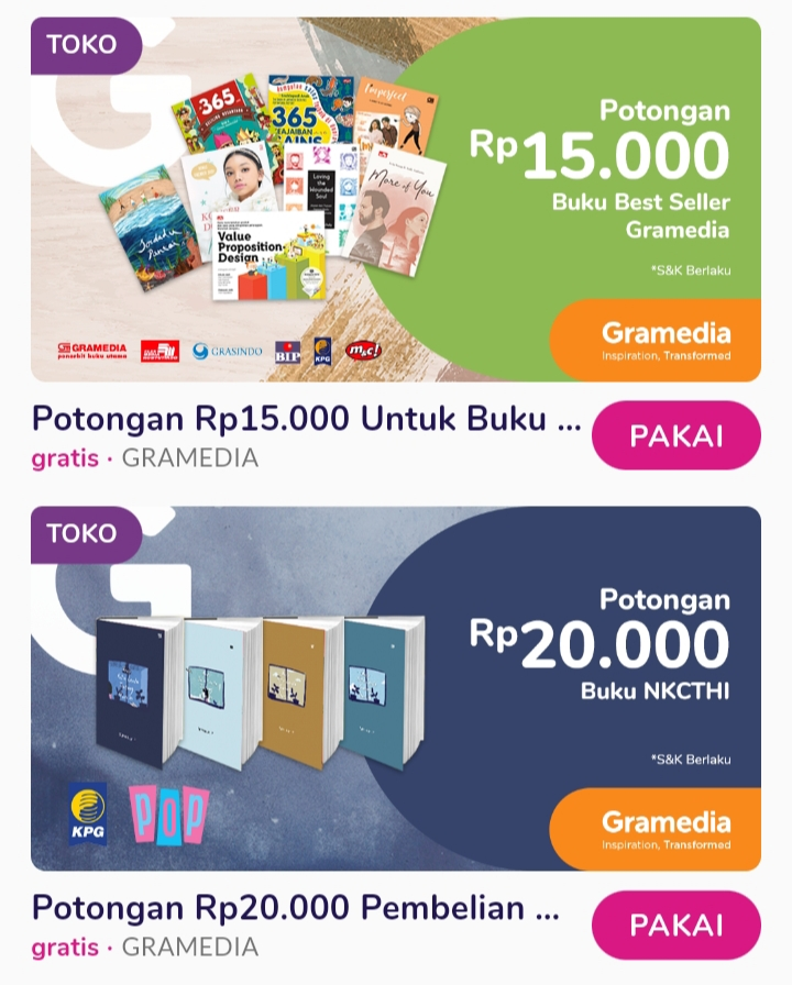 Voucher buku bulan Januari di MyValue