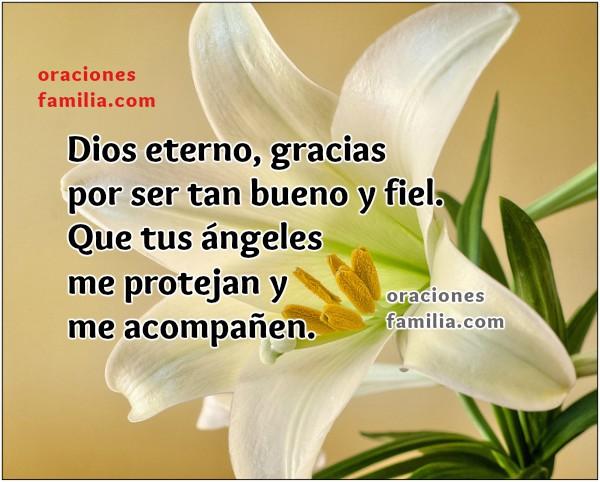 Oración de inicio del día, buenos días con oraciones cortas e imágenes cristianas por Mery Bracho.