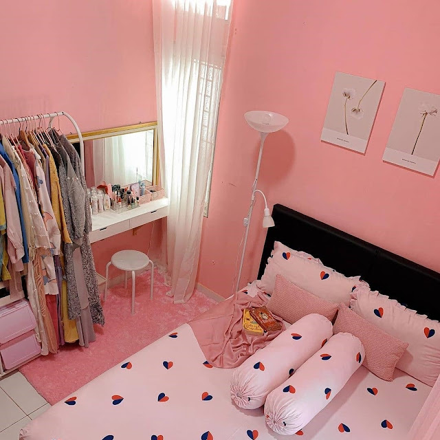 Warna Coral Pink untuk Kamar Tidur