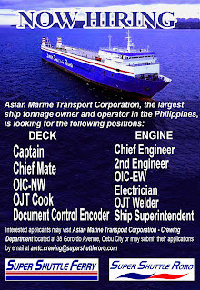 Car carrier ship jobs info Marine Transport Corporation is a transport-logistics company, based in Cebu City, Philippines opening hiring crew deck and engine crew for RO-RO ships.