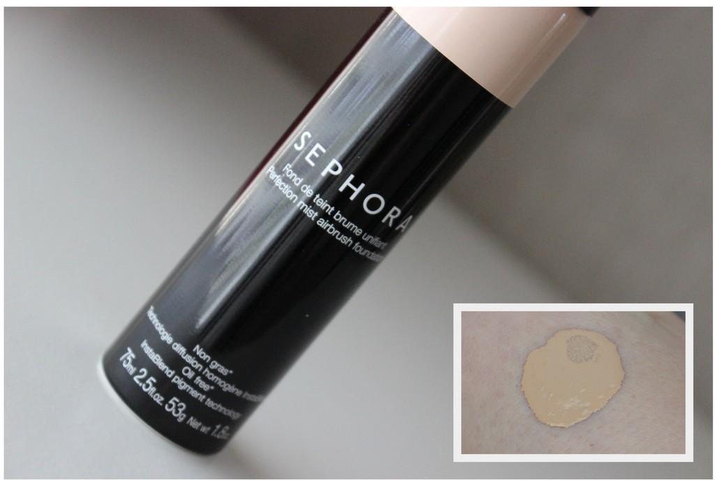 Sephora Perfection Mist Airbrush foundation review, before