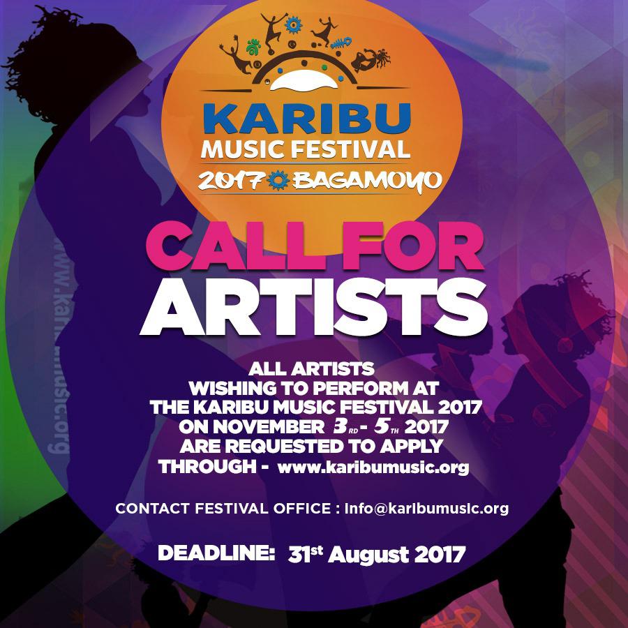 CALL FOR ARTISTS 2017 : KARIBU MUSIC FESTIVAL 3rd (Fri) – 5th (Sun