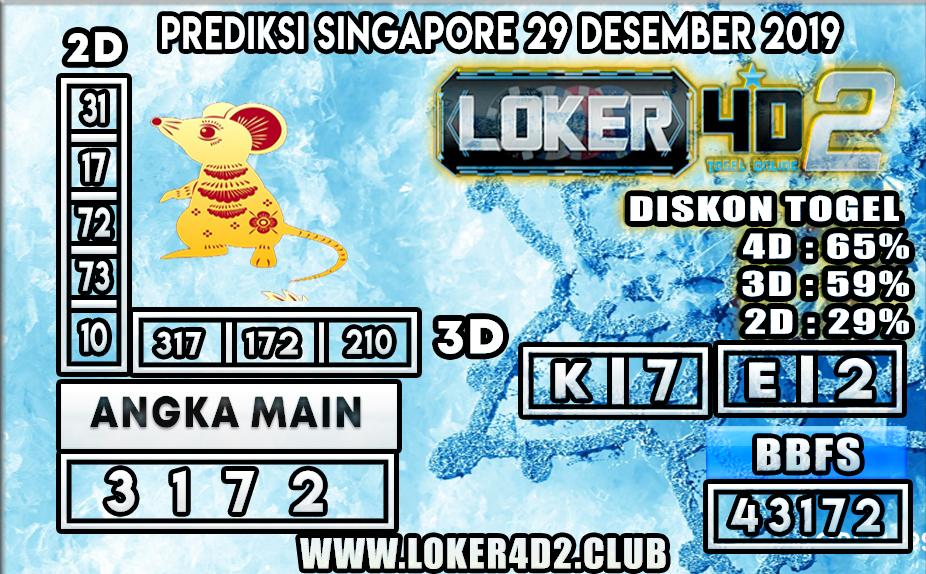 PREDIKSI TOGEL SINGAPORE LOKER4D2 29 DESEMBER 2019