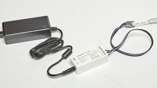Συνδεση ταινιας LED με τροφοδοτικο