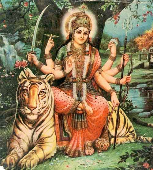 Which is the Vahana of Goddess Durga?
