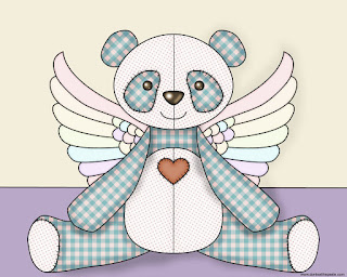 Winged Panda coloring page