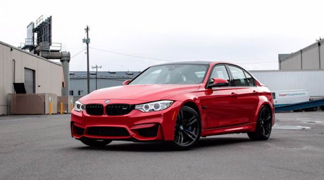 BMW M3 in Ferrari Red Individual Color