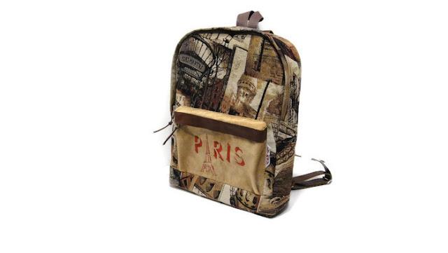 Городской рюкзак женский Париж & Эйфелева башня. Ручная работа, доставка курьером или почтой