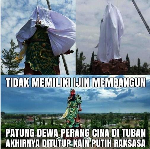 Muslimah Ini Bungkam Jokowi Yang Larang Masyarakat Protes Patung China