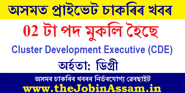 Cluster Development Executive Recruitment 2020: Apply for 02 Posts