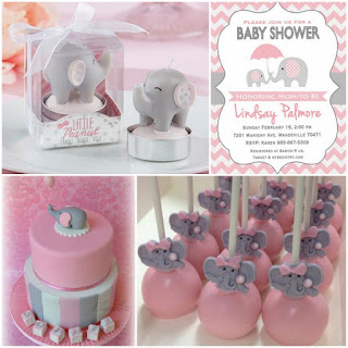blog little peanut baby shower with pink and grey elephant design