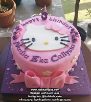Kue Tart Hello Kitty Fondant 2d