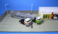 Tomica Limited Vintage NEO LV-N89a Hino HE366 Car Transporter(feat. Antico ASZ022 Vehicle Transport Trailer