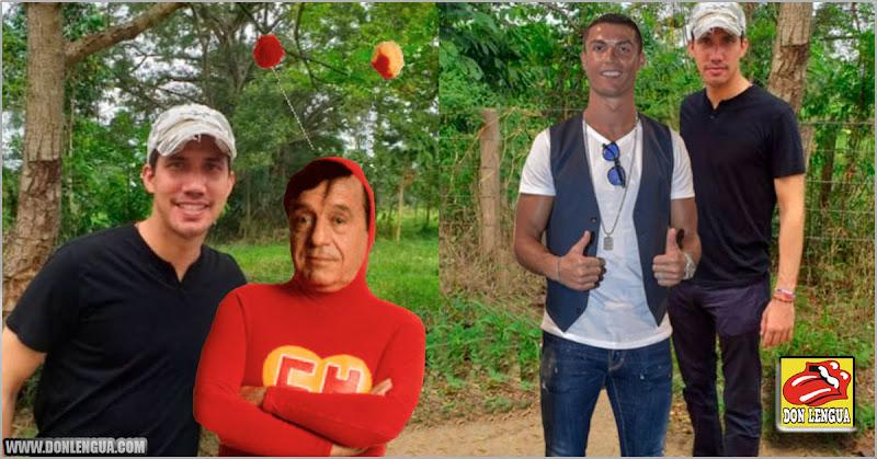 Cualquier persona puede photoshopear una foto de Juan Guaidó con quien sea