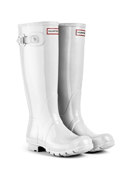 Hunter Original Tall Wellies Gloss Ice White