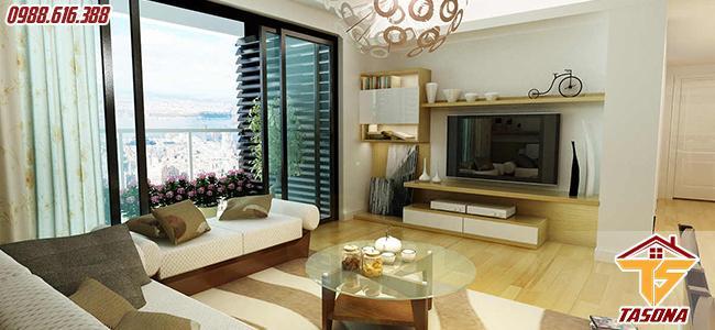 Cửa sổ lùa cùng với nội thất đẹp tạo nên không gian đẹp
