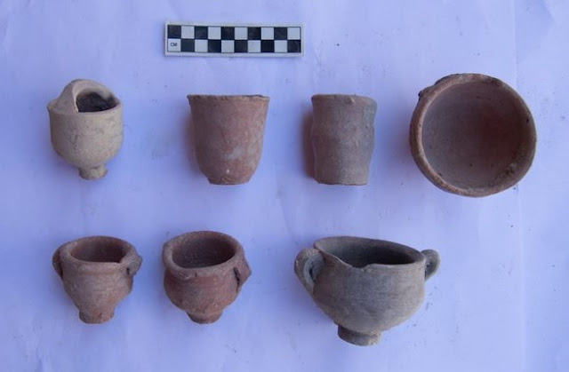Cache of pottery vessels found in Alexandria