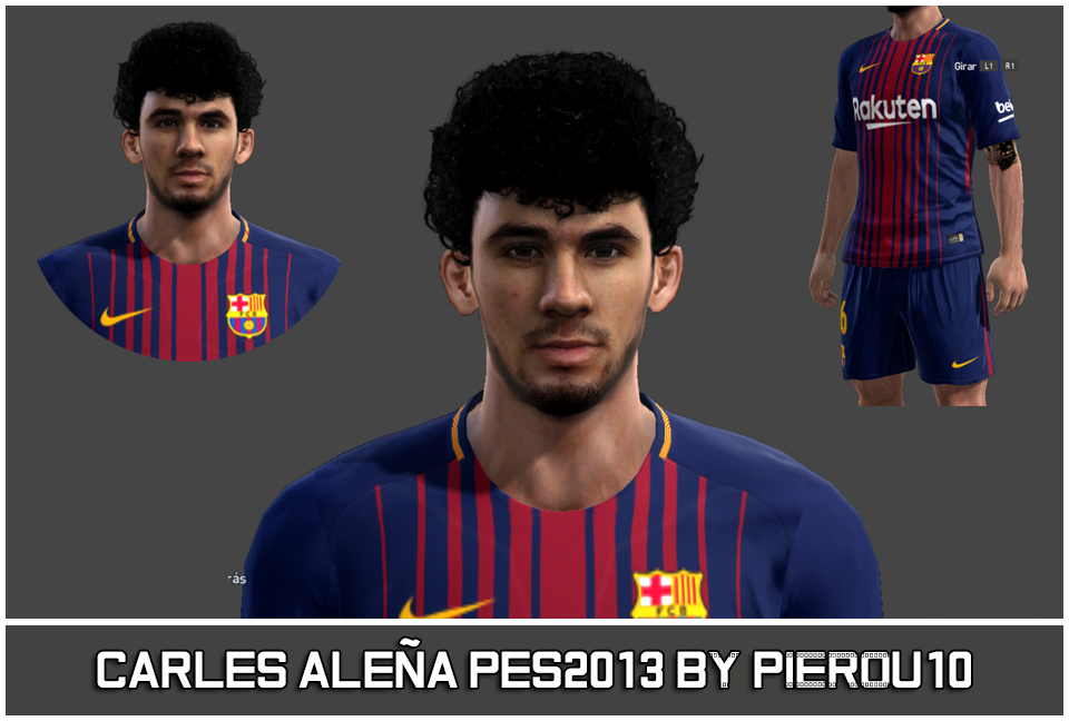 Face Carles Aleña PES 2013 By PieroU10