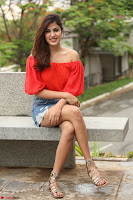 Rhea Chakraborty in Red Crop Top and Denim Shorts Spicy Pics ~  Exclusive 008.JPG