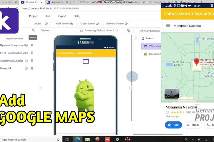 Menambahkan Google Maps Pada Aplikasi di Kodular