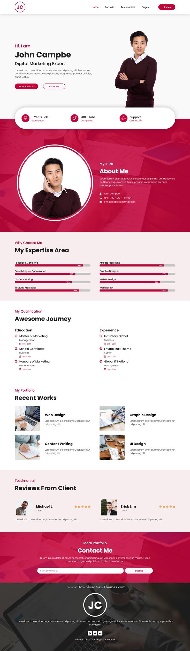 CV Resume Elementor Template Kit