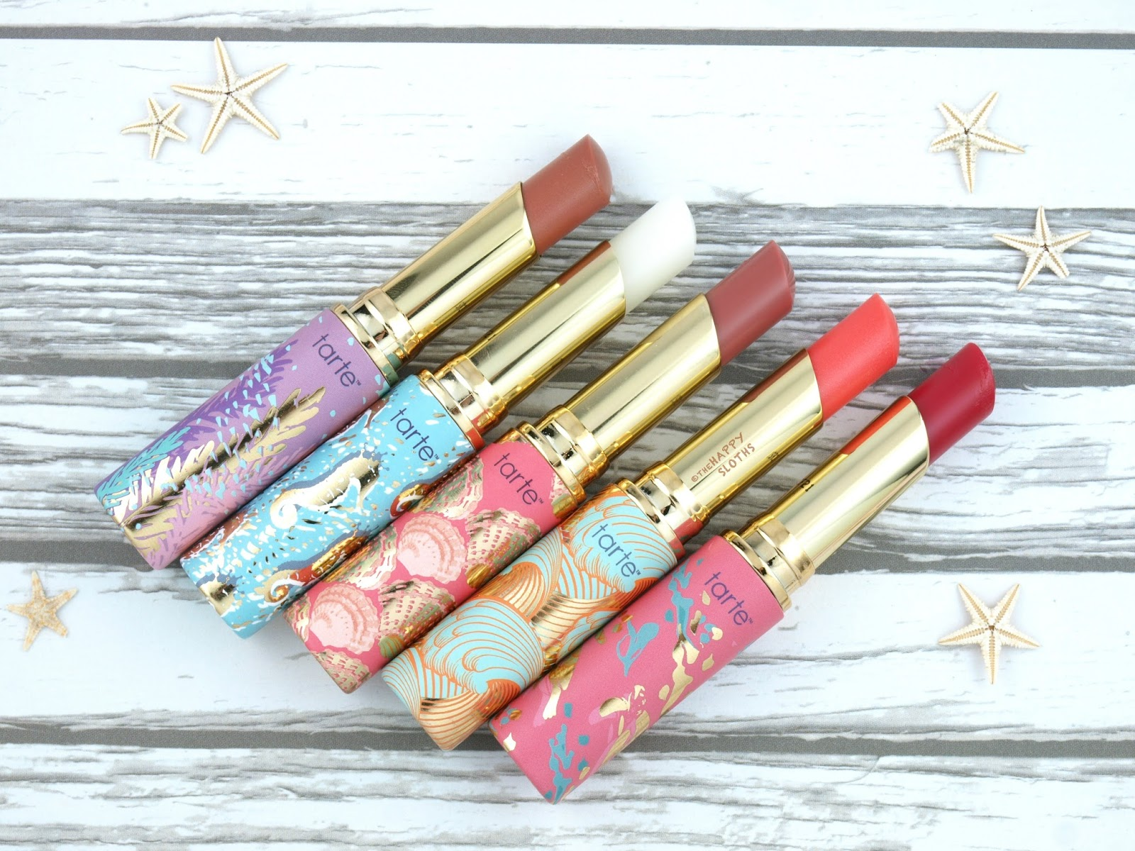 Tarte Rainforest of the Sea Quench Lip Rescue: Review and Swatches