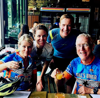 Transparently the family that bicycles and enjoys brews together stays together. 😀