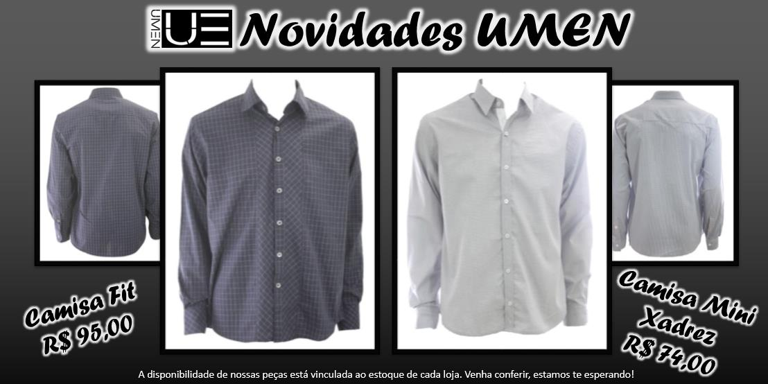 62cb133035931 A UMEN recebe constantemente peças novas em suas lojas e e-commerce. As  novidades da vez são essas camisas da coleção Inverno 2013
