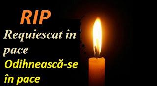 Ce înseamnă RIP / Requiescat in pace?
