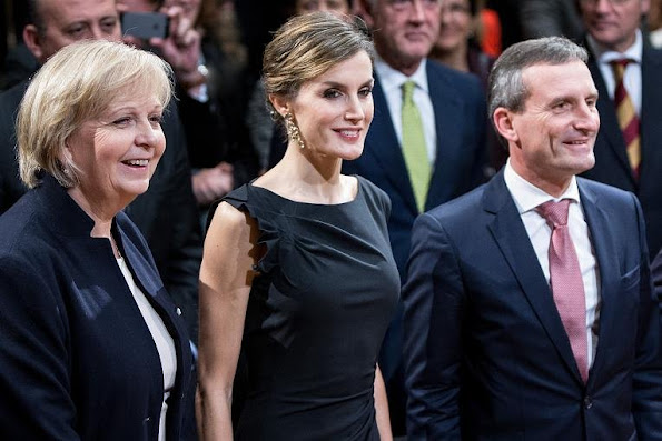 "Queen Letizia with Hannelore Kraft and museum director Beat Wismer and mayor Thomas Geisel attends the opening of exhibition ""Zurbaran"" at Museum Kunstpalast in Dusseldorf"