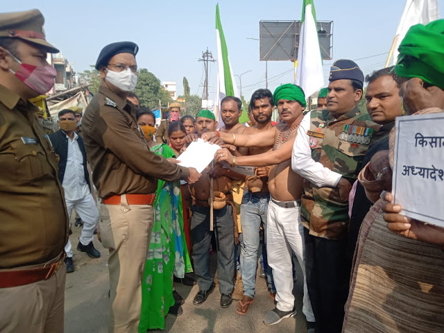 Farmers protest against the new agricultural law