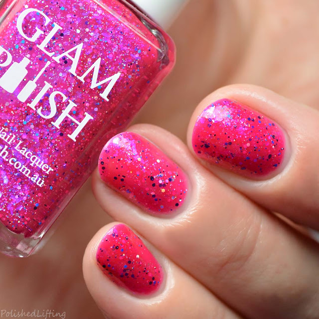 dark pink jelly nail polish