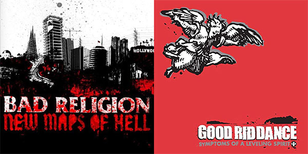 Bad Religion and Good Riddance albums turning years today