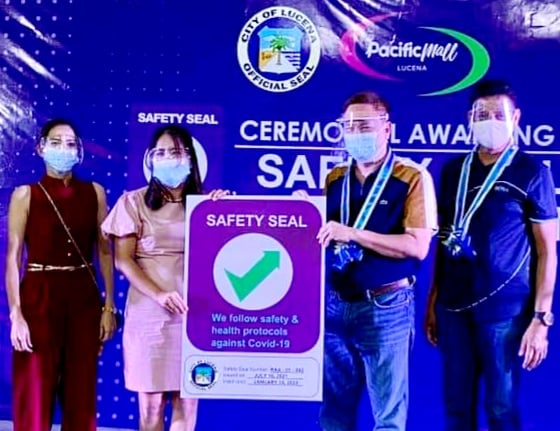 Pacific Mall- Lucena now safety seal certified
