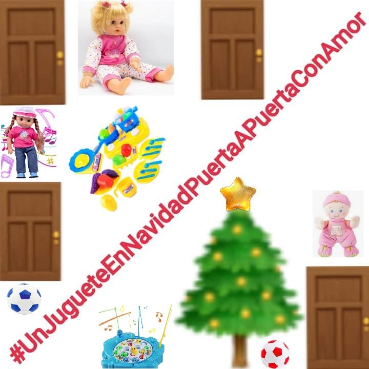 https://www.notasrosas.com/ 'Un Juguete en Navidad, Puerta a Puerta con Amor'.
