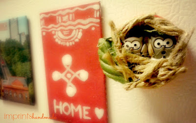 Owl nest fridge magnet easy crafts