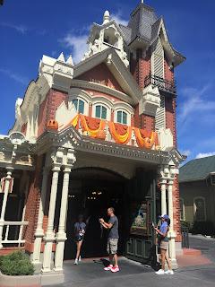 Magic Kingdom Fire Station Halloween Decorations Main Street USA