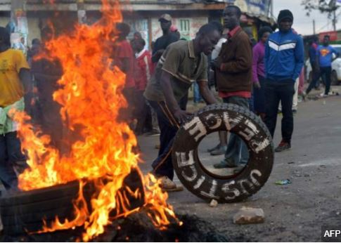 Photos: Election results spark protests in Kenya