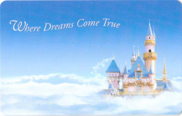 Where Dreams Come True Disney Parks Castle Ticket Card
