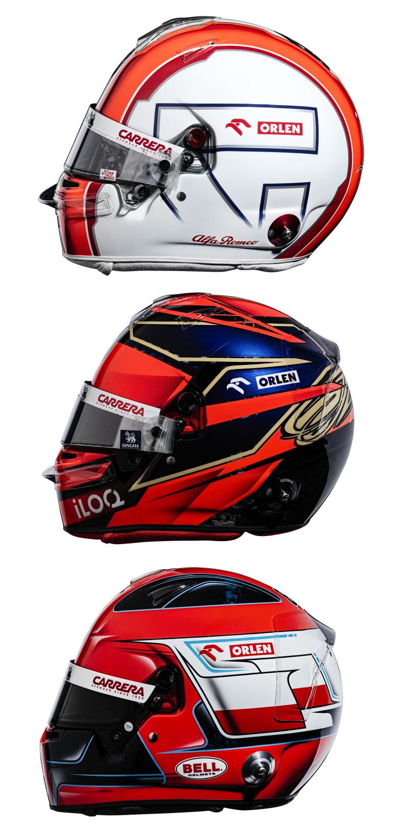 Alfa Romeo Racing Formula 1 Team Helmets